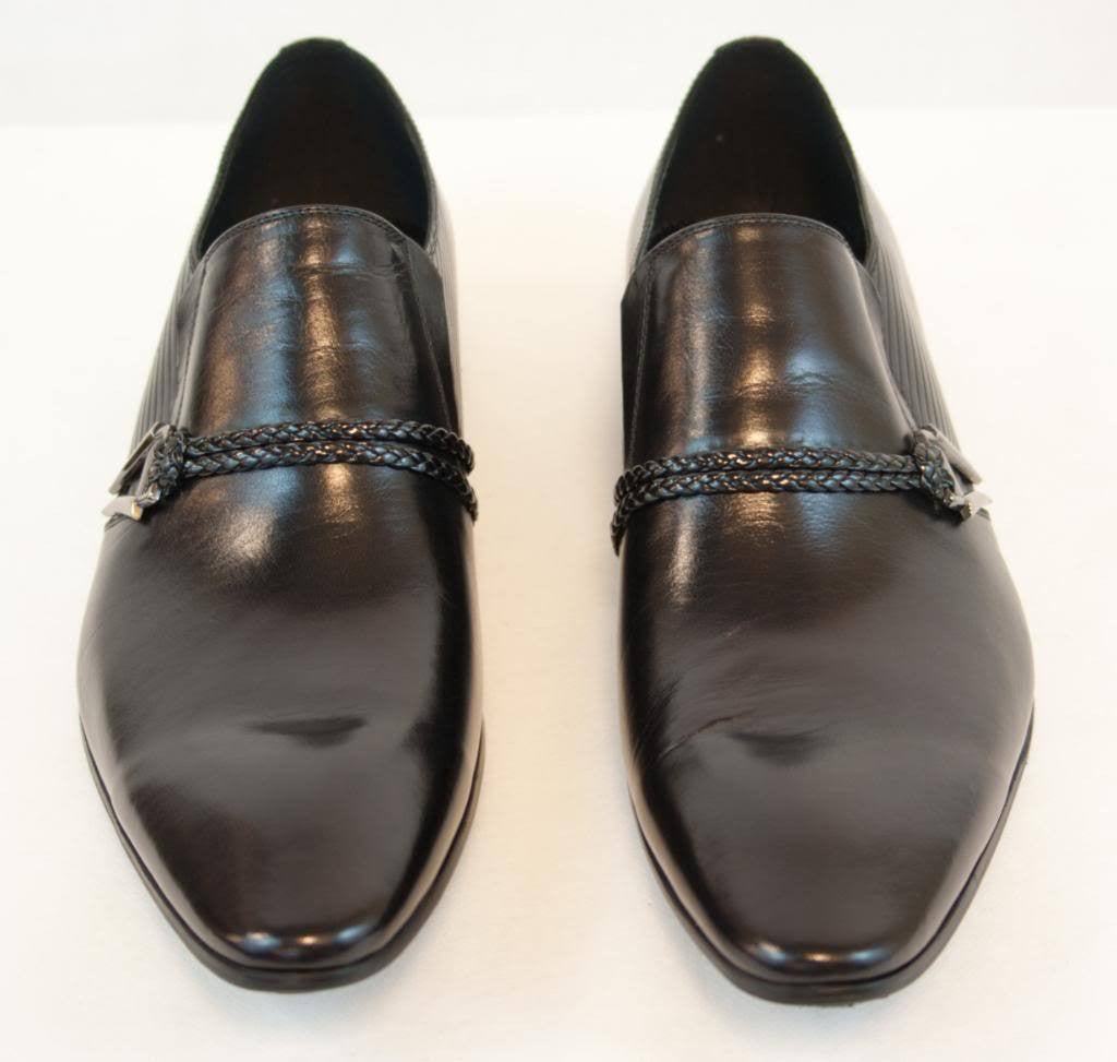 New Encore Dress Shoes by Fiesso Black Pointed Toe FI 6628
