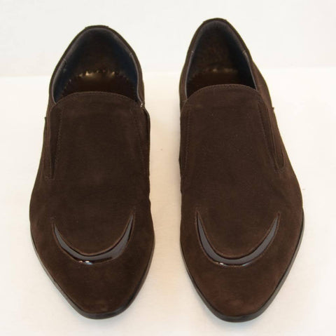 New Encore Dress Shoes by Fiesso Brown Suede F13066