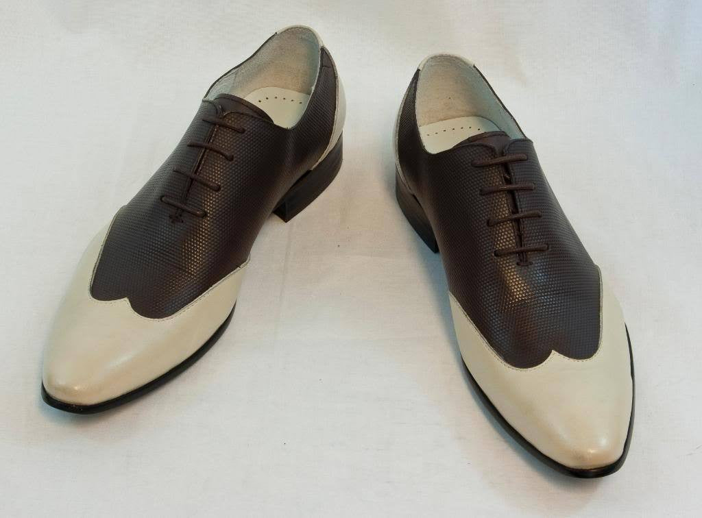 New Encore Dress Shoes by Fiesso Beige/Coffee FI 3046