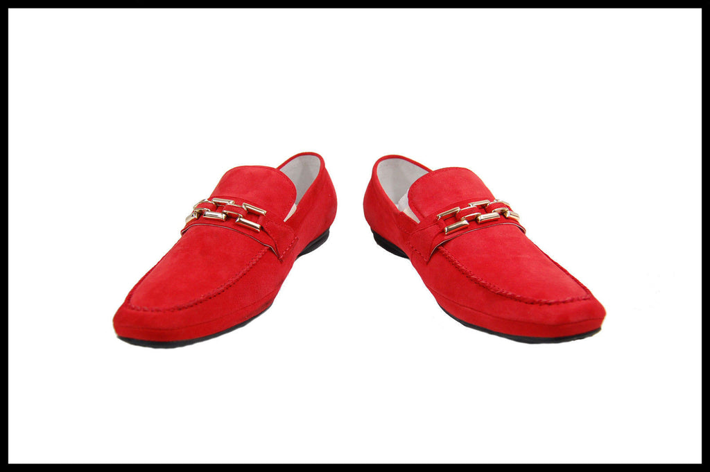 New Encore by Fiesso Suede Slip on Shoes FI 3083