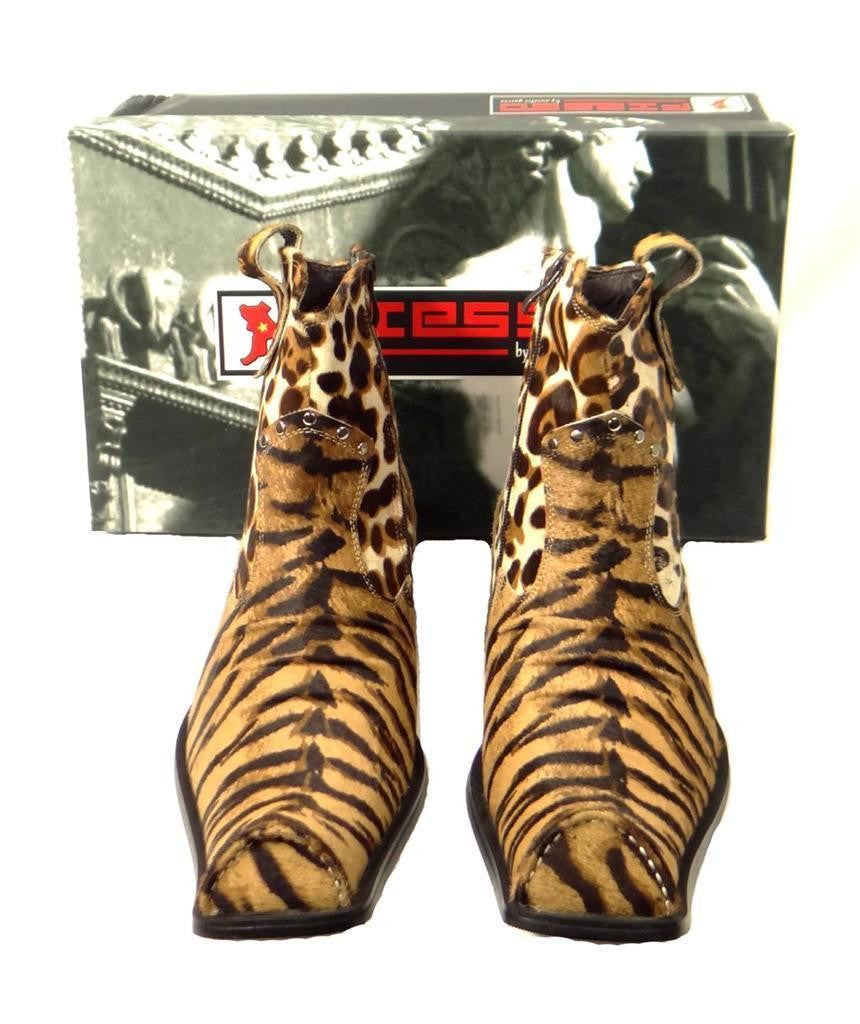 New Men's Fiesso Pony Hair Tiger