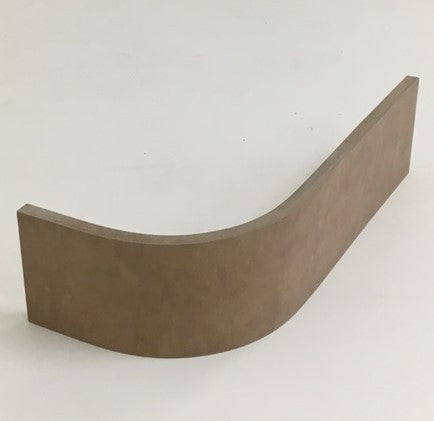 RW02-18 mm 300 External (Convex) Plinth Front View - Curveddoorstore.co.uk