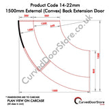 RW14-22 mm 1500 External (Convex) Door - Curved door store .co.uk