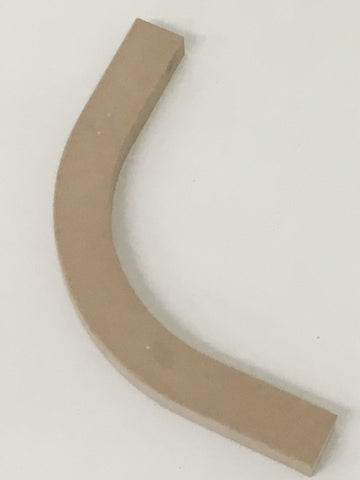 0013 Ashby Matt 18 mm Slab 300 mm External Convex Curved Cornice - Made to Measure & Paint to Order