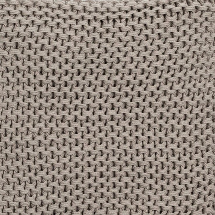 Gray 100% Organic Cotton Knit Blanket and Knit Hat