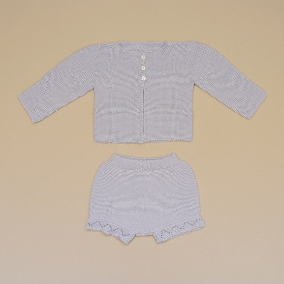 Baby Two Piece Knit Sweater Set in Blue