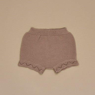 Baby Beige Knit Shorts