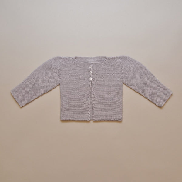 Baby Gray Knit Cardigan Sweater