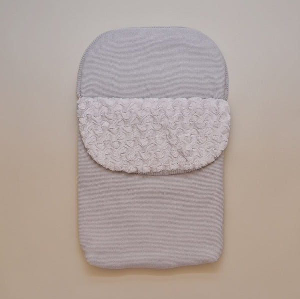 Gray Baby Knit Bunting Bag Sack