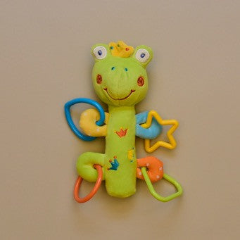Baby Frog Squeaky Ring Rattle