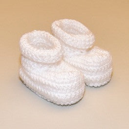 White Infant Crochet Soft Booties
