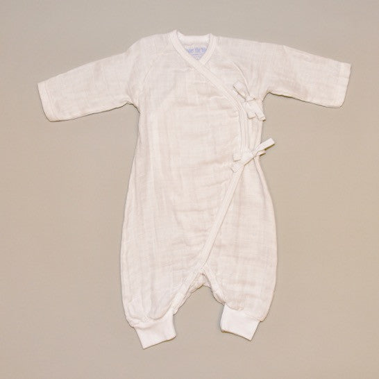 Baby Side Tie Kimono Playsuit in Natural color