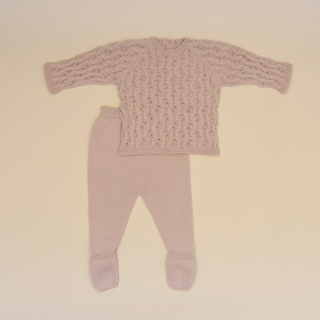 Taupe Baby Two Piece Knit Sweater Set