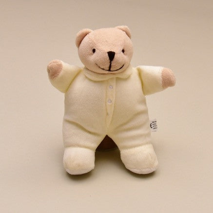 "8""Soft and Huggable Off-white Baby Teddy Bear 8"""