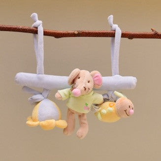 Soft Pastel Colored Baby Activity Hanging Toy