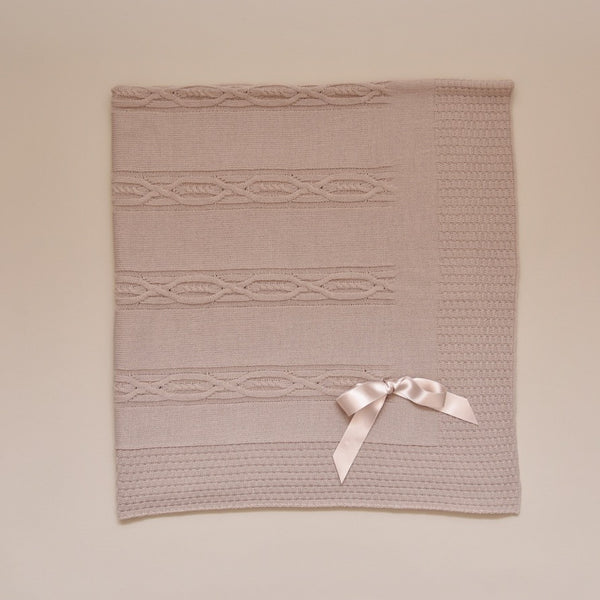 Taupe Knit Baby Blanket