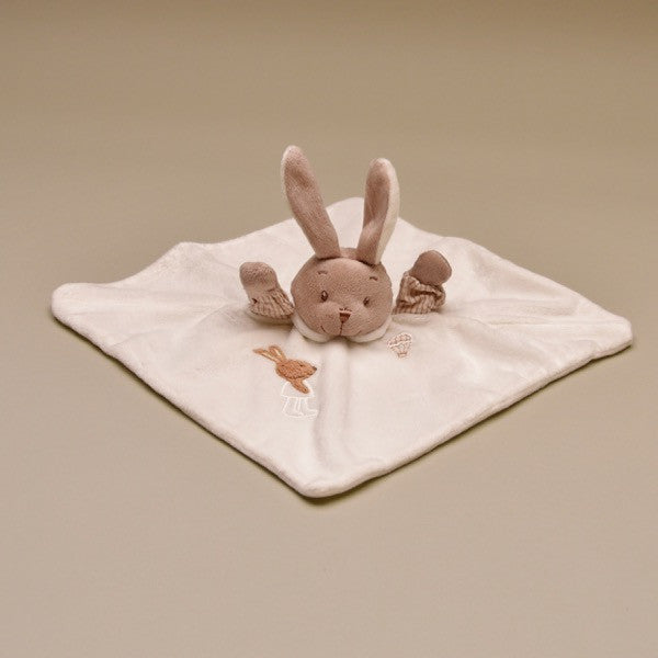 Ivory Soft and Cuddly Bunny Doudou Blankie
