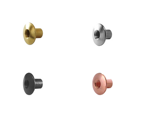 Chicago Screws Posts Binding Fastening Nuts Brass black copper nickel antique brass made in usa rite on screw products