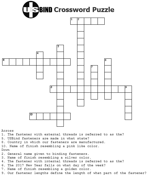 USBind Crossword Puzzle 2016