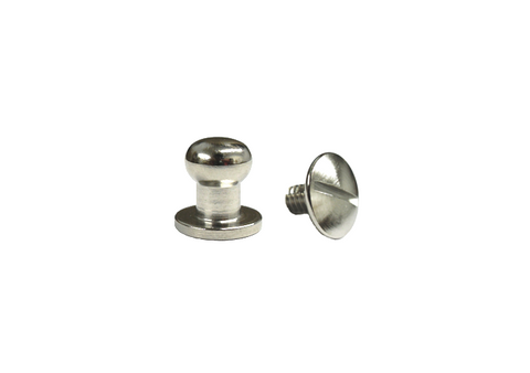 Medium Button Head Stud & Screw Bright Nickel Plate