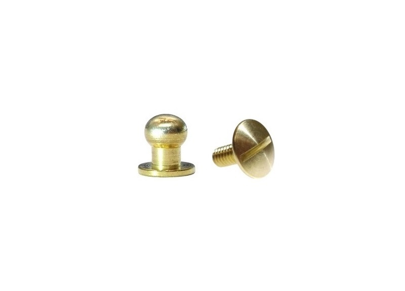 Medium Button Head Stud & Screw Solid Brass