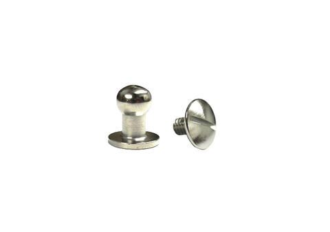 Large Button Head Stud & Screw Bright Nickel Plate