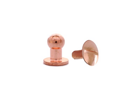 Large Button Head Stud & Screw Copper Plate