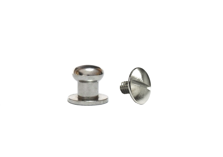 Small Button Head Stud & Screw Bright Nickel Plate