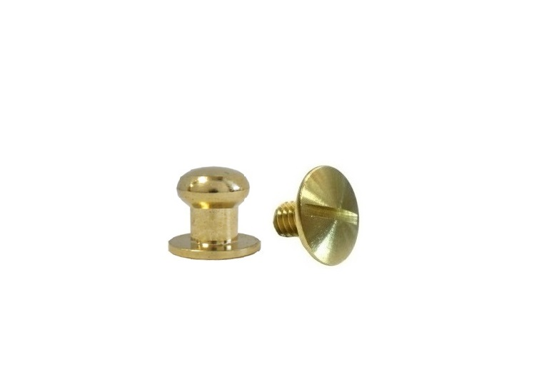 Small Button Head Stud & Screw Solid Brass
