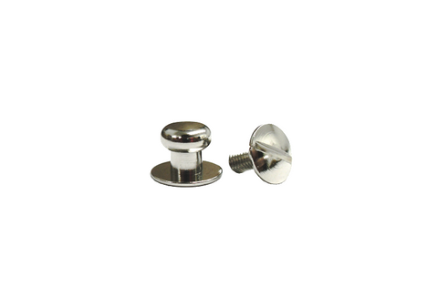 Extra Small Button Head Stud & Screw Bright Nickel Plate