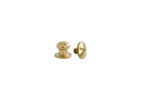 Mini Button Head Stud & Screw Solid Brass