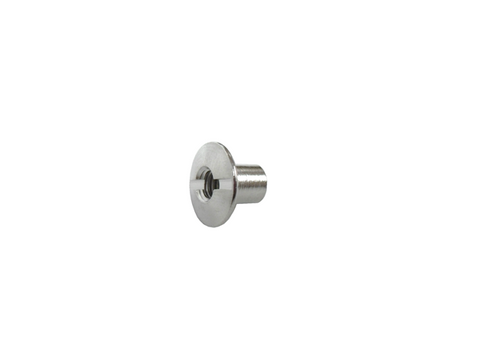 "1/4"" 6.3MM Chicago Post Hole Through Slotted Bright Nickel Plate"
