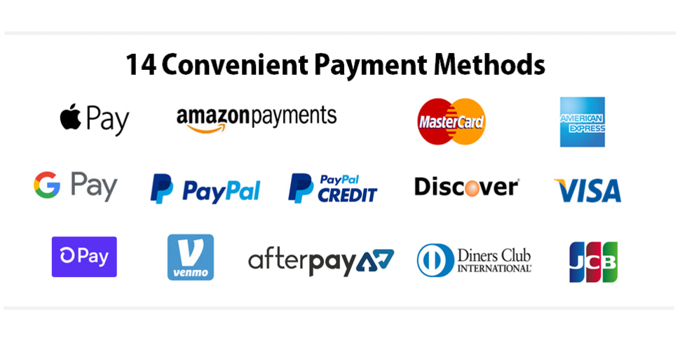 amazon google apple pay visa mastercard discover amex american express payments afterpay