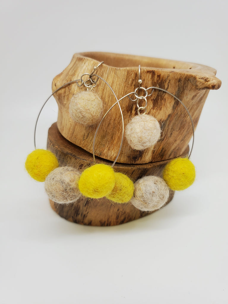 Felted Hoops