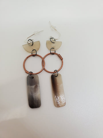Sobho Earrings Copper and Horn