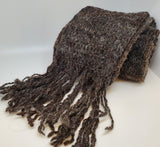 Sheep's wool hand knit scarf