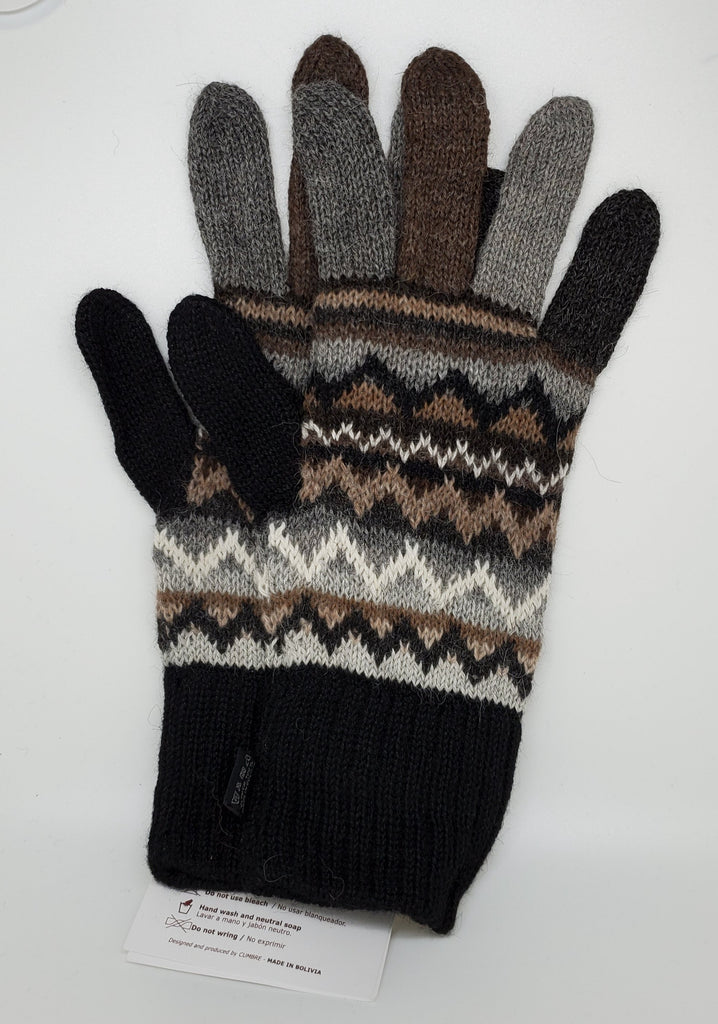 Patterned Alpaca Gloves