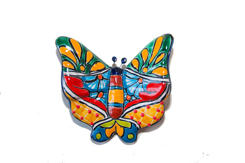 Talavera butterfly sculpture