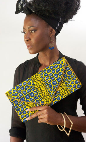 Oversized Clutch Fancy Print