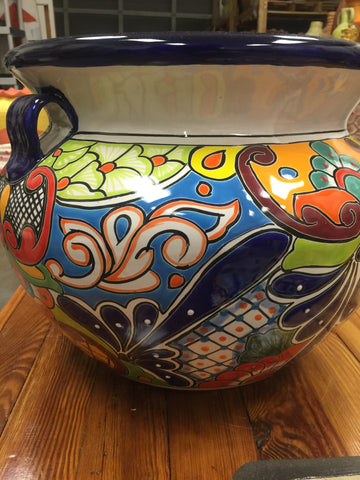 Traditional Talavera planters