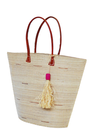 Natural bag w/tassel