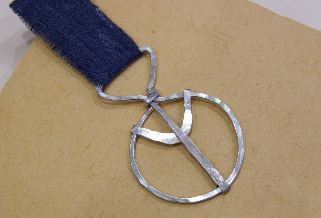Peace sign bookmark