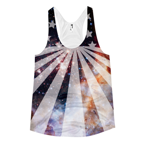 Lady's Intergalactic Freedom Racerback Tank Top