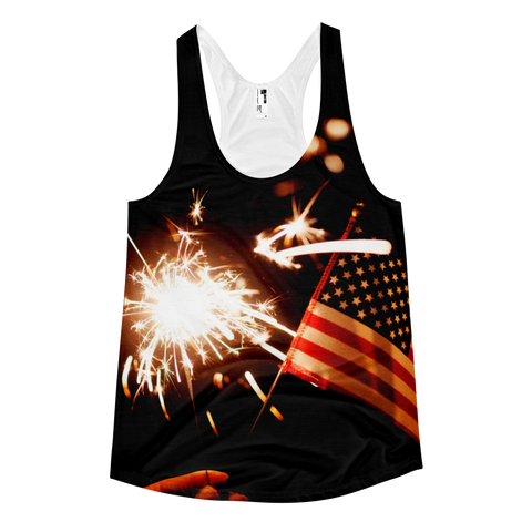 Lady's Sparklers Racerback Tank Top