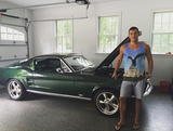 Vibe Tanks Fan next to his Mustang