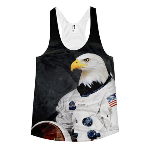Captain Baldy Space Racerback