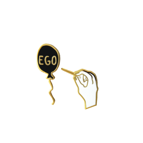 pop your ego pin pack free radicals shopfreeradicals ego balloon