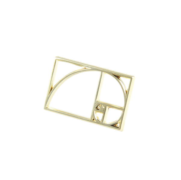 golden section phi golden ratio lapel pin diecast free radicals