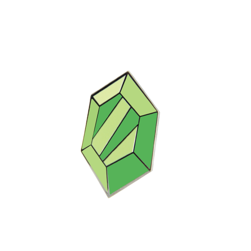 green rupee pin by free radicals