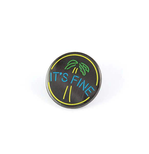 free radicals julien solomita neon sign it's fine palm tree pin